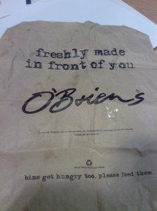 O'Briens bag